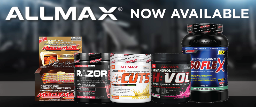 ALLMAX AVAILABLE