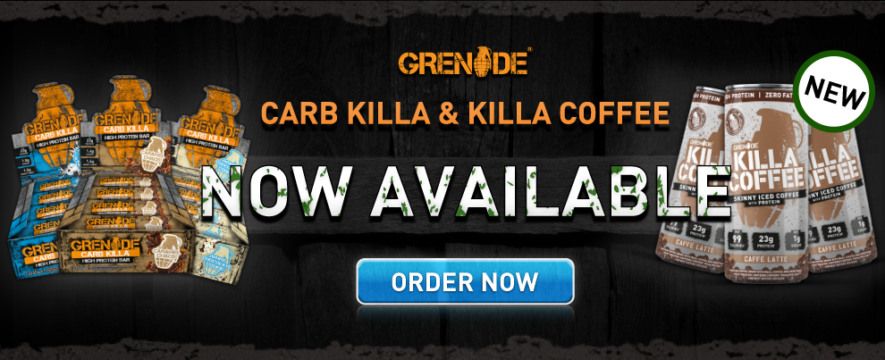 Grenade Coffee and Carb Killas in stock