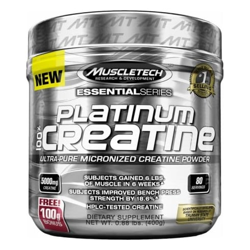 MuscleTech Platinum Micronised Creatine 400g