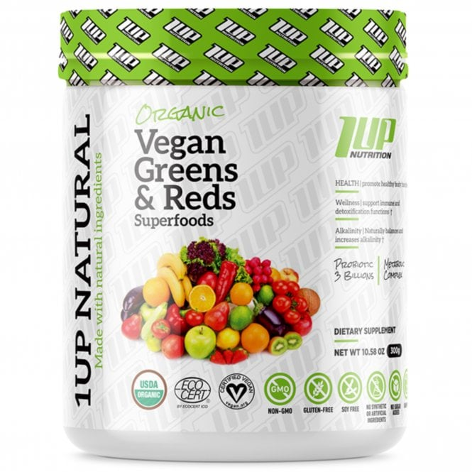 1 Up Nutrition 1UP Natural Vegan Greens & Reds Superfood 300g