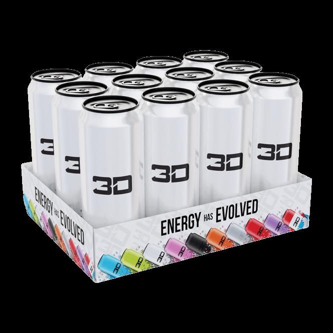 3D Energy Drinks 12 x 473ml