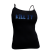 5% Nutrition Apparel Kill It / 5%er For Life Women's Spaghetti Strap Tank Top Black/Blue