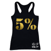 5% Nutrition Apparel Love It Kill It / 5%Er For Life Women's Tank Top Black/Gold