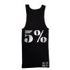 5% Nutrition Apparel Love It Kill It / 5% Men's Ribbed Tank Top Black/Chrome