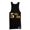5% Nutrition Apparel Love It Kill It / 5% Men's Ribbed Tank Top Black/Gold