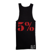5% Nutrition Apparel Love It Kill It / 5% Men's Ribbed Tank Top Black/Red