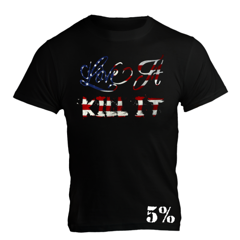 5% Nutrition Apparel Love It Kill It / 5% Men's Ribbed Tank Top Black/US Flag