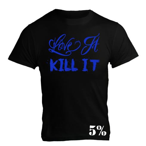 5% Nutrition Apparel Love It Kill It / 5% Men's T-Shirt Black/Blue
