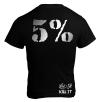 5% Nutrition Apparel Love It Kill It / 5% Men's T-Shirt Black/Chrome