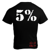 5% Nutrition Apparel Love It Kill It / 5% Men's T-Shirt Black/White
