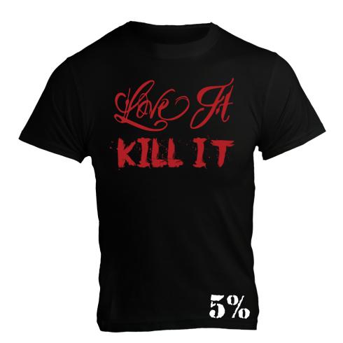5% Nutrition Apparel Love It Kill It / Eat Dirty Train Dirty Men's T-Shirt Black/Red