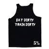 5% Nutrition Apparel Love It Kill It / Eat Dirty Train Dirty Men's Tank Top Black/White
