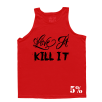 5% Nutrition Apparel Love It Kill It / Eat Dirty Train Dirty Men's Tank Top Red/Black