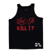 5% Nutrition Apparel Love It Kill It / No Over Training Men's Tank Top Black/Red
