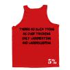 5% Nutrition Apparel Love It Kill It / No Over Training Men's Tank Top Red/Black