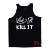 5% Nutrition Apparel Love It Kill It /No Over Training  Tank Top Black/White