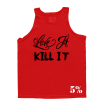5% Nutrition Apparel Love It Kill It / Real Men Eat What They Want Men's Tank Top Red/Black