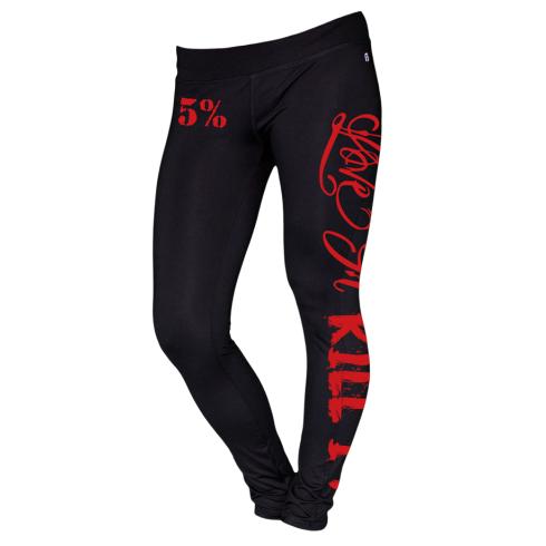 5% Nutrition Apparel Love It Kill It Women's Leggings Black/Red
