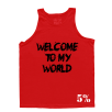 5% Nutrition Apparel Welcome To My World / Now Get The F* Out Men's Tank Top Red/Black