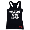 5% Nutrition Apparel Welcome To My World / Now Get The F* Out Women's Tank Top Black/White