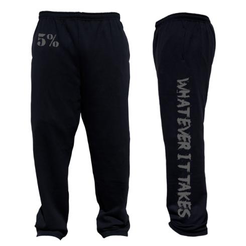 5% Nutrition Apparel Whatever It Takes Men's Sweatpants Black/Grey