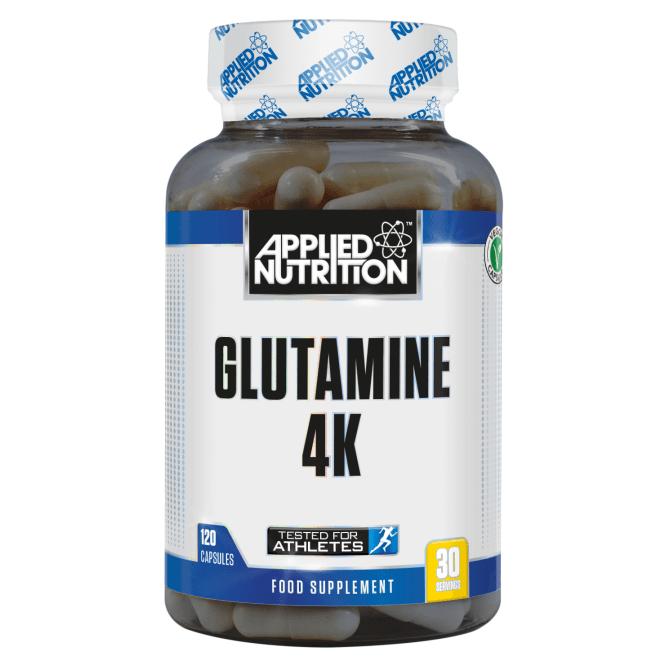 Applied Nutrition Glutamine 4K 120 Veg Caps (SHORT DATED)