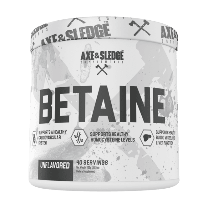 Axe & Sledge Supplements Betaine 40 Servings