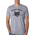 Black Magic T-Shirt Less Luck More Skill Grey
