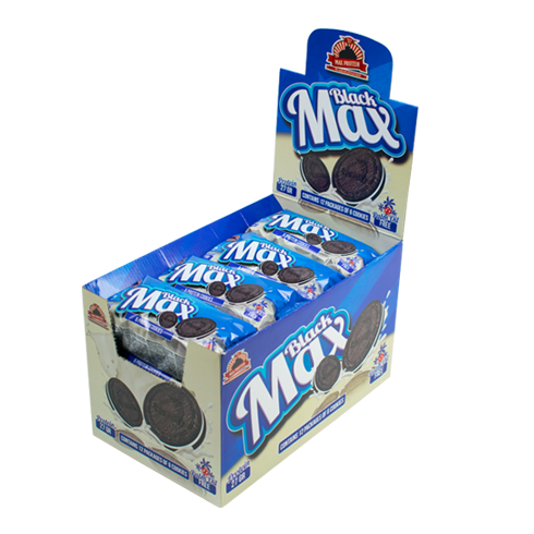 MAX Protein Black Max 12 X 100G (100G = 6 Biscuits)