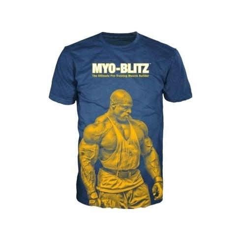 Clearance Ronnie Coleman Myo-Blitz T-Shirt Blue
