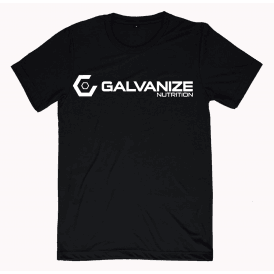 Galvanize Nutrition Logo T-Shirt Black/White