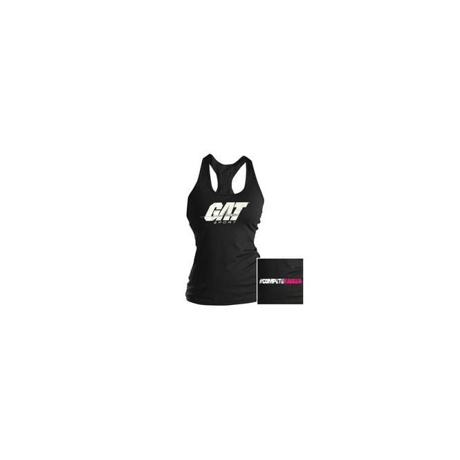 GAT Sport Ladies Racer Tank Top #Competeharder Black