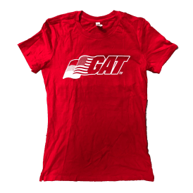 Ladies T-Shirt #Competeharder Red