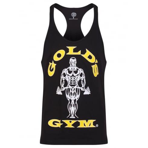 Golds Gym Stringer Vest Joe Premium Black