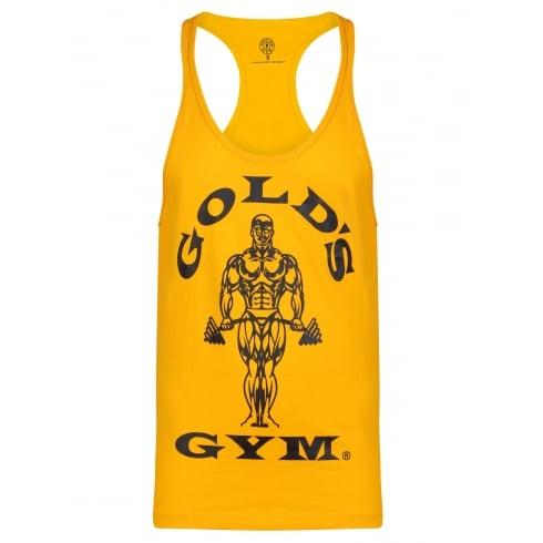 Golds Gym Stringer Vest Joe Premium Gold