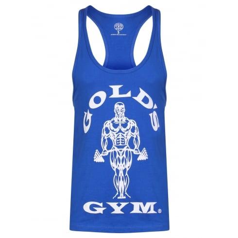 Golds Gym Stringer Vest Joe Premium Royal Blue