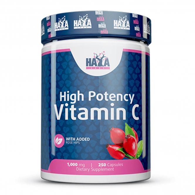 Haya Labs High Potency Vitamin C 1000mg with Rose Hips 250 Caps