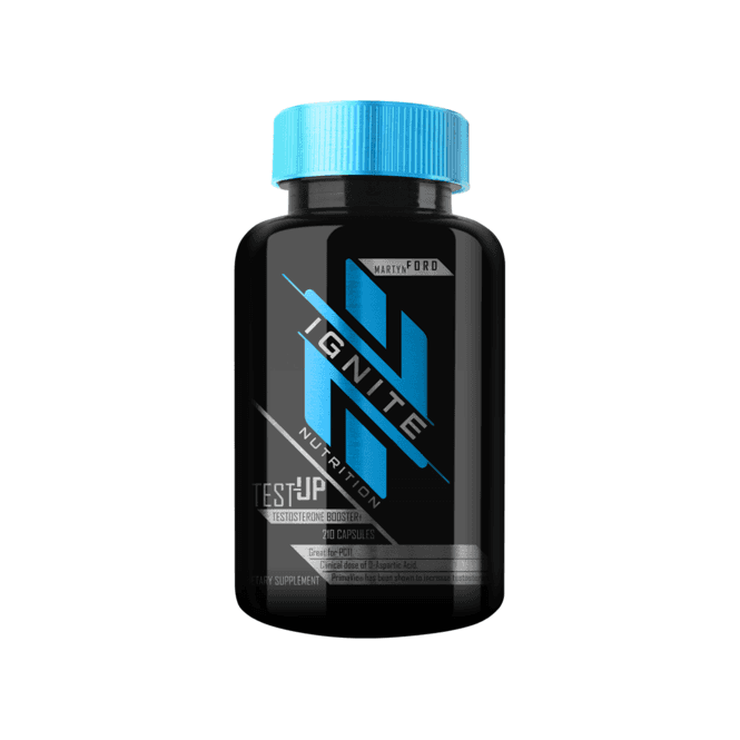 Ignite Nutrition Test-Up 210 Caps INT (SHORT DATED)