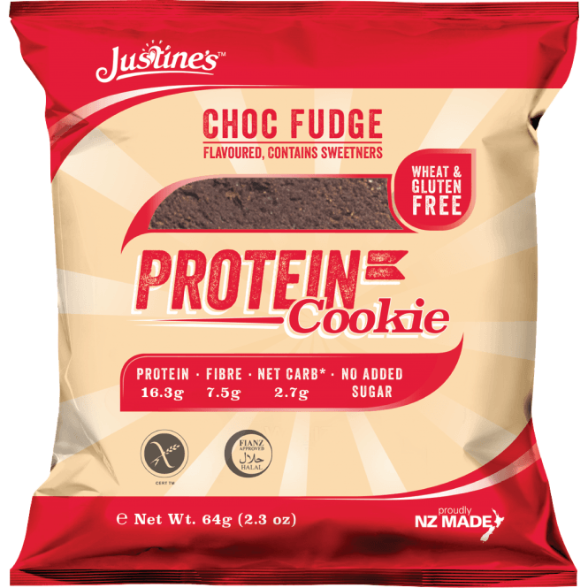 Justine's Protein Cookies 12 X 64G (SHORT DATED)