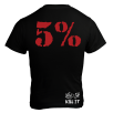 5% Nutrition Apparel Love It Kill It / 5% Back Men's T-Shirt Black/Red