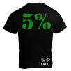 5% Nutrition Apparel Love it Kill It / 5% Men's T-Shirt Black/Green