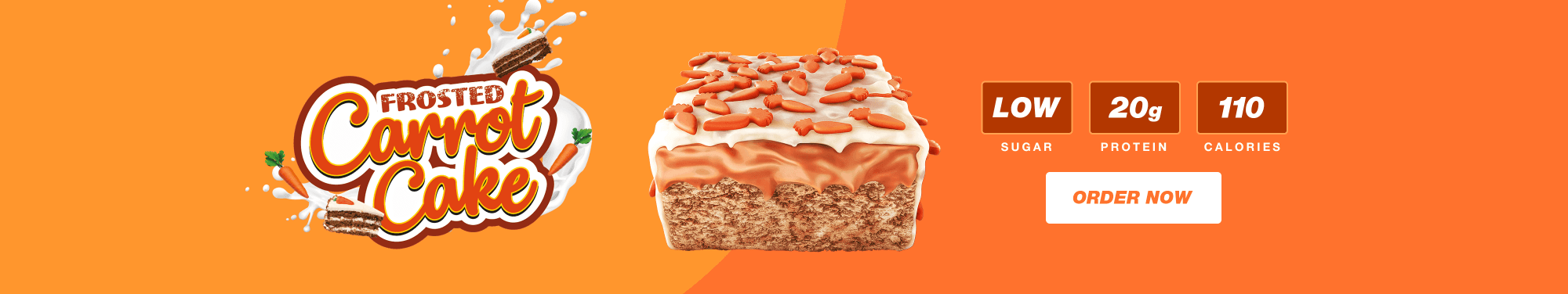Battle Bites Frosted Carrot Cake