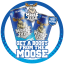 Moose Juice Fridge Sticker 20cm