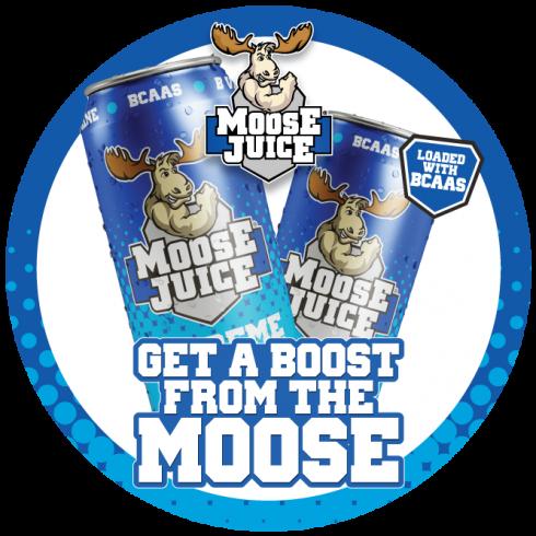 Muscle Moose Moose Juice Fridge Sticker 20cm