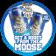 Moose Juice Fridge Sticker 20cm