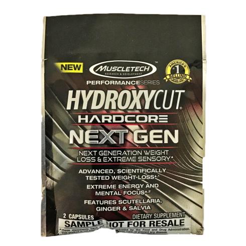 MuscleTech Hydroxycut Hardcore Next Gen Sample pack (SHORT DATED)