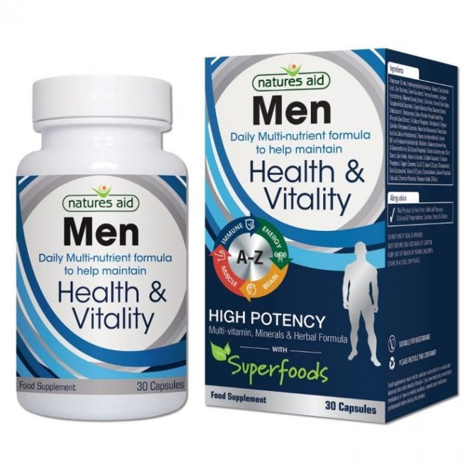 Natures Aid Men Multi-Vitamin & Minerals 30 Caps
