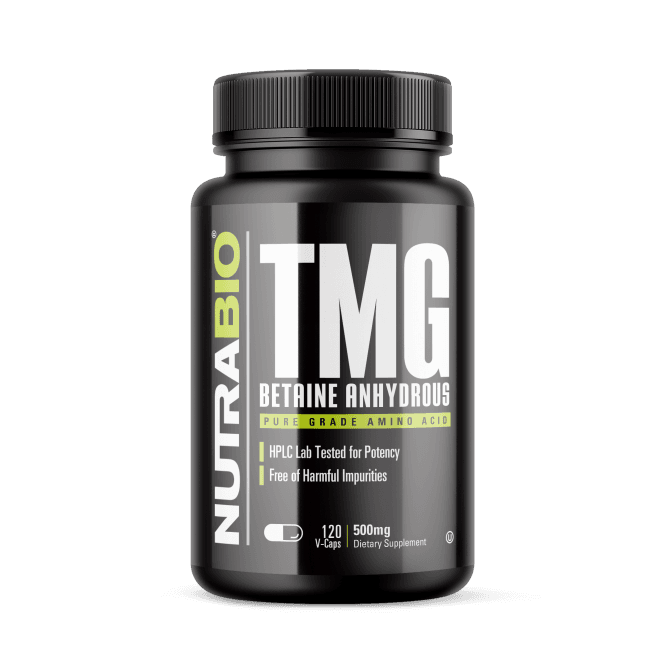 NutraBio Labs Trimethylglycine (TMG Betaine) 120 V Caps