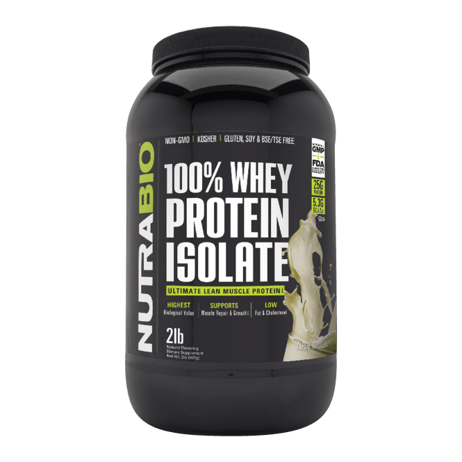 NutraBio Labs Whey Protein Isolate 907g