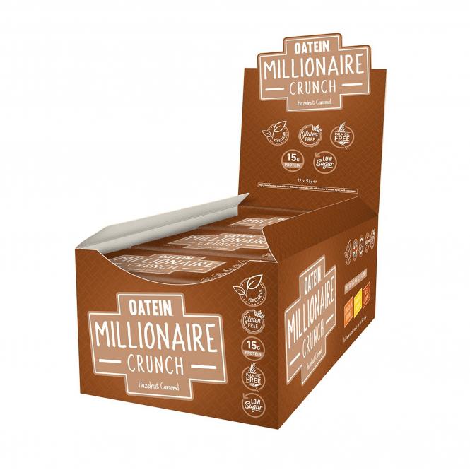 Oatein Millionaire Crunch 12 x 58g (SHORT DATED)